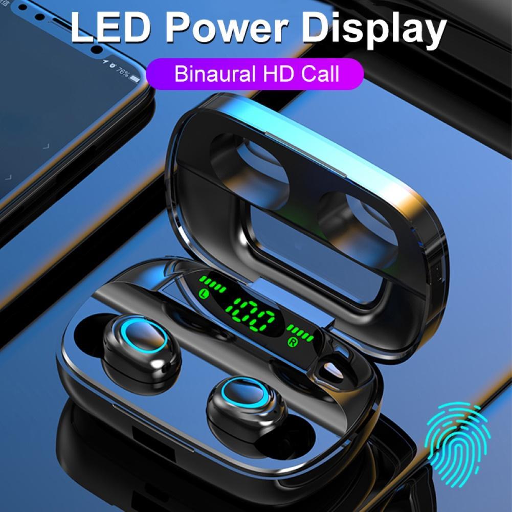 S11 Noise Reduktion Touch Control Drahtlose Bluetooth Kopfhörer mit Lade Box Led-anzeige 3500mAh Touch Control Kopfhörer