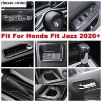 air ac outlet vent steering wheel head lights button cover trim abs carbon fiber interior for honda fit jazz gr 2020 2021