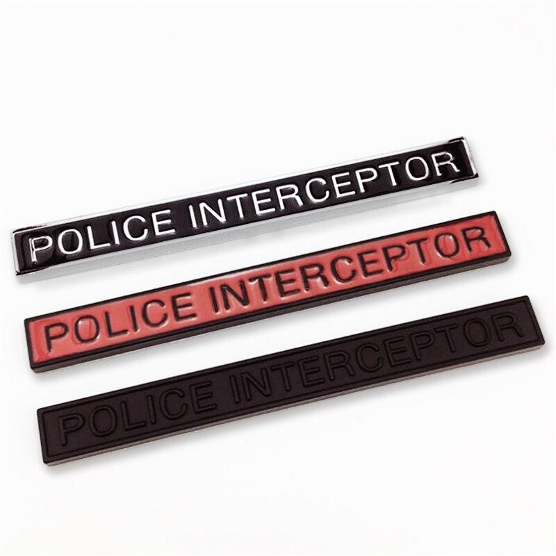 1pc polícia interceptor letras etiqueta do carro para porta traseira frente ou fender corpo 3d emblema emblema decalque acessórios de automóveis