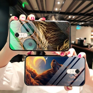 Tempered Glass Case For Xiaomi Redmi 5 Phone Case Back Phone Cover Series 3