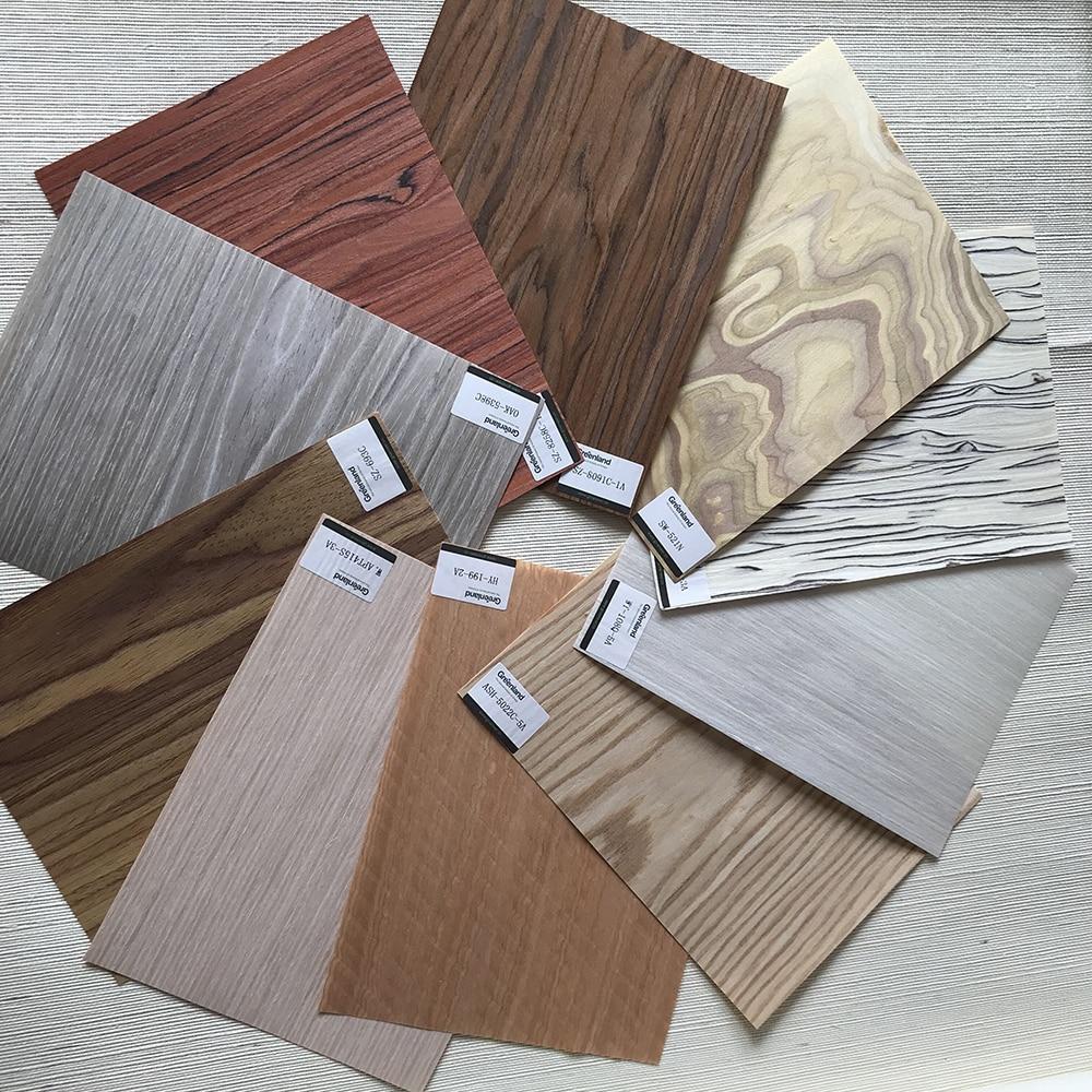 كتاب عينات خشب الأبنوس ، 76 قطعة ، هندسية ، غرينلاند