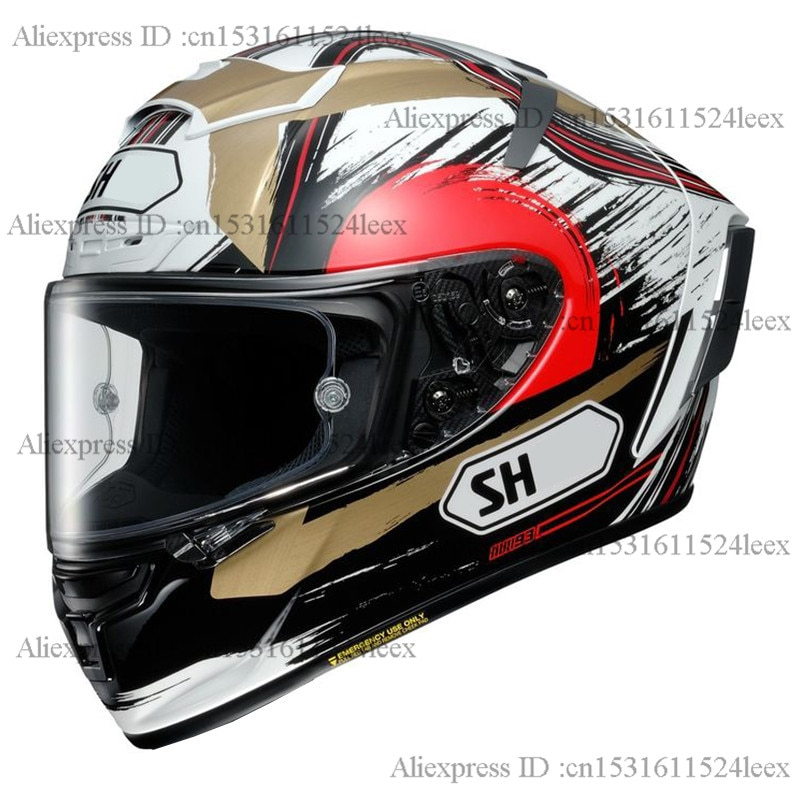 Casco de moto de cara completa X14 93 casco de gato de la suerte visera antiniebla casco de moto de carreras Motocross