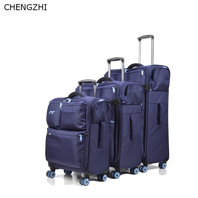 """Чехол для чемодана CHENGZHI ультра светильник путешествий 20 &quot24"""" 28 дюймов комплект"""