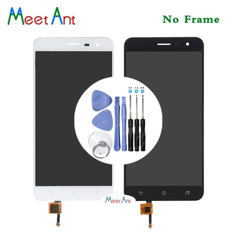 Pantalla LCD de alta calidad de 5,5 pulgadas para ASUS Zenfone 3 ZE552KL con montaje de digitalizador con pantalla táctil en blanco y negro + herramienta
