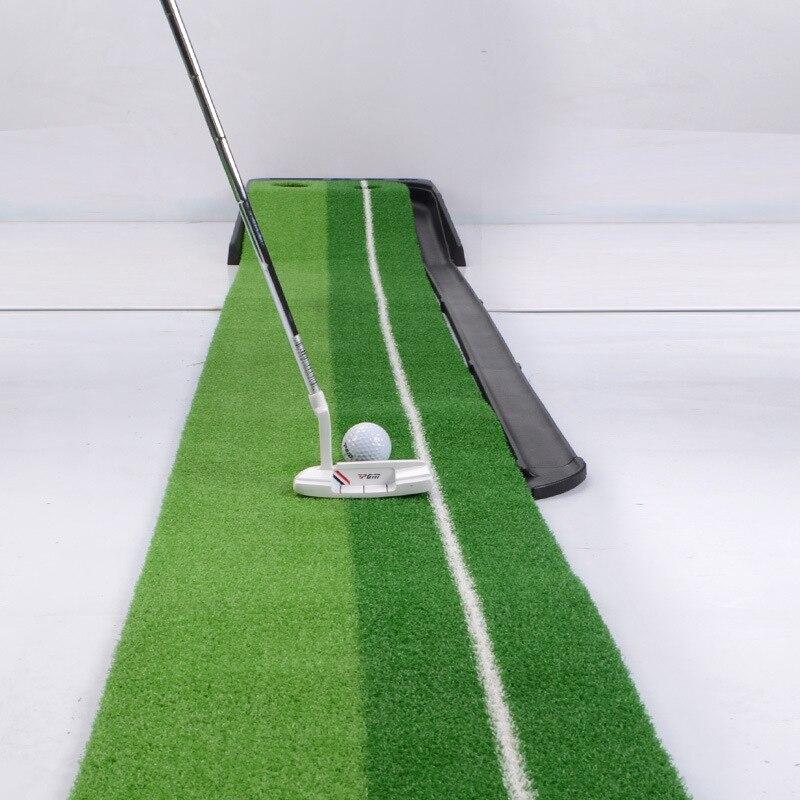 Portable Indoor Golf Putter Trainer Golf Training Aids Mini Home Golf Clubs Putter Ball Return Exerciser With Putter 3 Balls