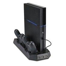 Pour SONY Playstation 4/Slim/PRO ventilateur Vertical ventilateur PS4 double contrôleur chargeur avec 3 HUB
