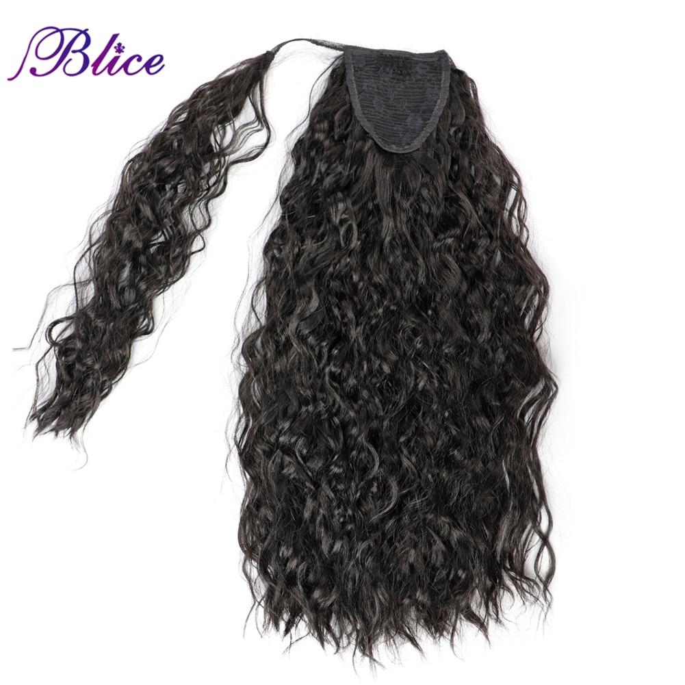 Cola de Caballo rizado largo Blice, envoltura Natural en Clip, extensiones de cabello, cola de caballo, pelo sintético para mujeres