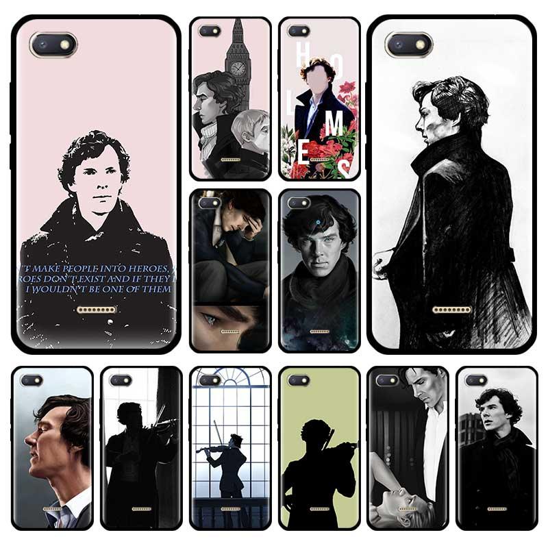 221B Sherlock Benedict casos rojo mi nota 8 8T 9S 9 7 9A 9C K30i 5G 8A 7A Mi 9T A3 Note10 Pro suave de la cubierta del teléfono Bolsa