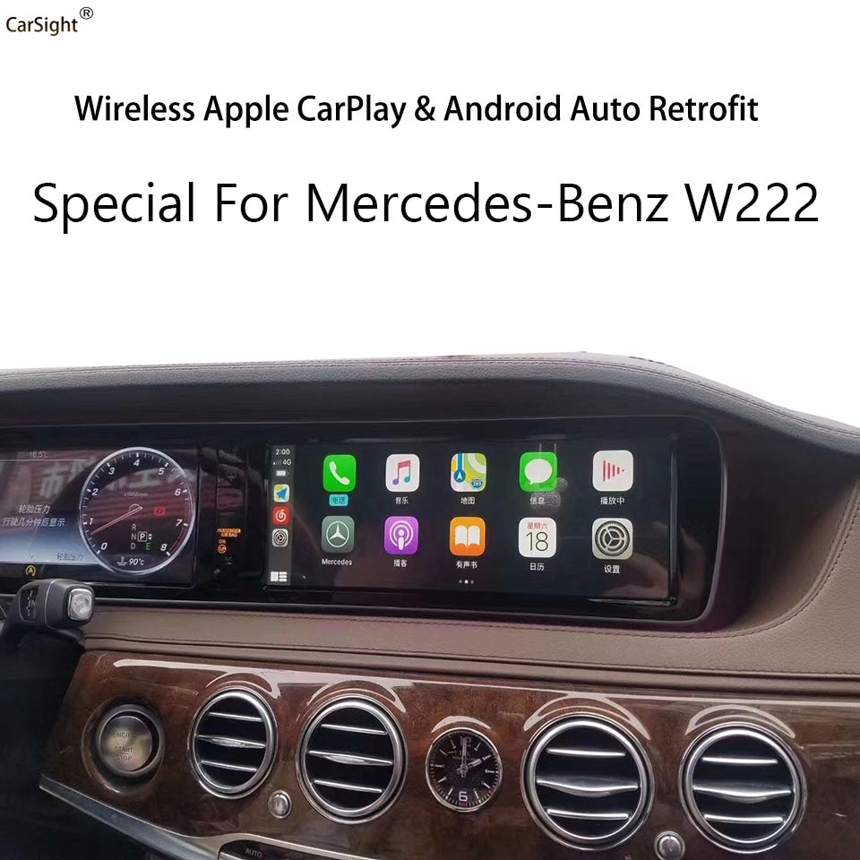 CarSight Wireless Apple CarPlay Solution for Mercedes-Benz Mybach S C GLC C63S AMG Coupe Android Navigation Car Play Google MP5