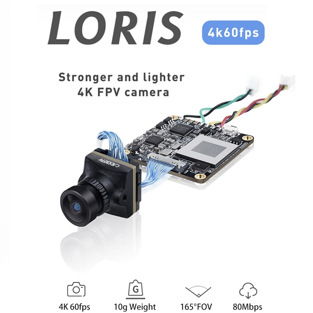 Cámara DVR Caddx Loris 4K 1080P 1,8mm FPV, NTSC/PAL con OSD para Dron de carreras con visión en primera persona, fotografía aérea con ala fija
