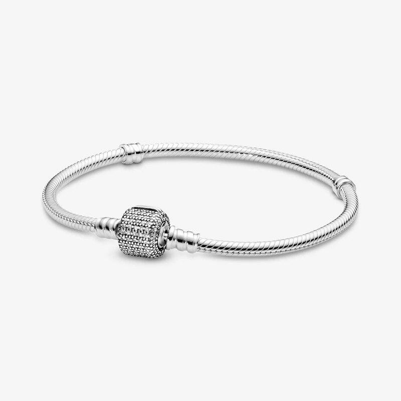 Pulsera de plata de ley 925 con Abalorios para mujer, joyería de...