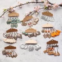 vintage ethnic boho earrings sundry bundles for women female 2020 trendy drop earrings eardrop dangler jewelry accessories