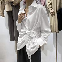 Moda ZANZEA Mujer blusa asimétrica solapa cuello camisa de manga larga Mujer sólido Blusas Chemise Mujer Casual Lace Up túnica Top7