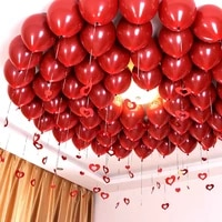 10 inch red pomegranate birthday balloon 18 inch metal red heart shaped ruby balloon love wedding room valentines day jewelry
