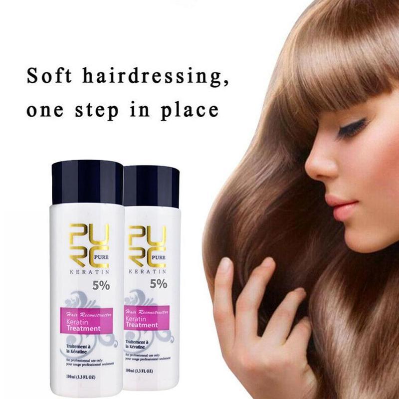 PURC 100ml Hair Keratin Treatment Purifying Straight Hair Care Hair Scalp Care Brazilian Keratin Repair Damaged Hair Scalp недорого