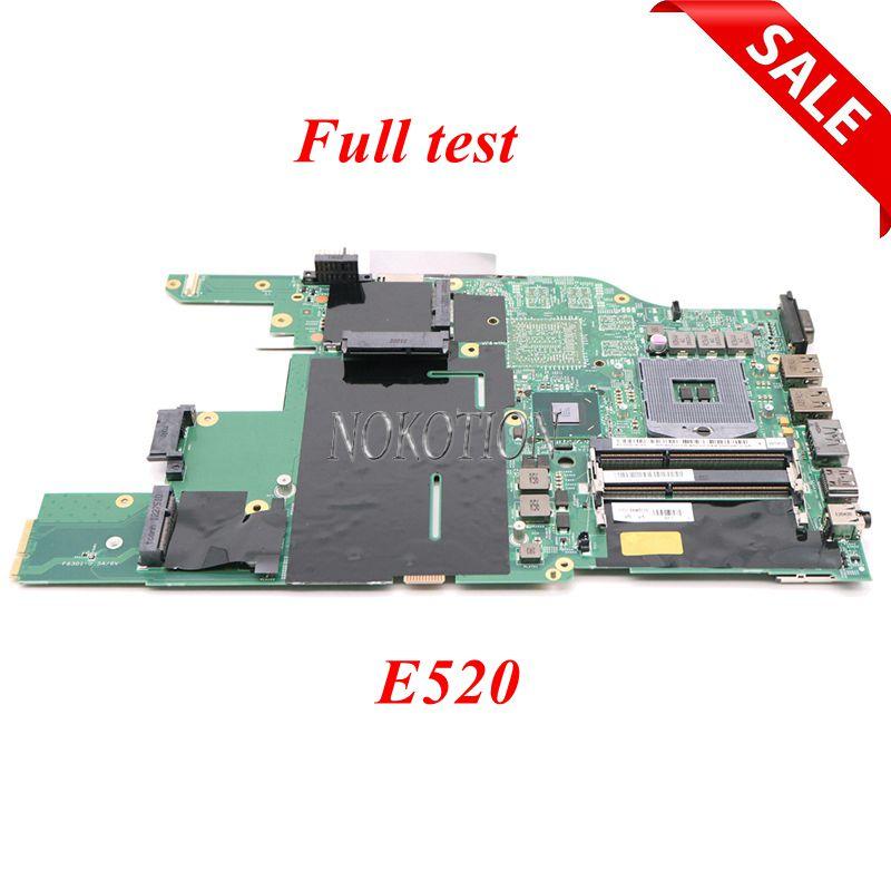 NOKOTION 04W0398 48.4MI04.021 para Lenovo Thinkpad Edge E520 DDR3 placa base de computadora portátil HM65 GMA HD 3000 DDR3 placa base