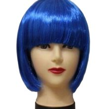 Women Short BOB Hair Wig Straight Bangs Cosplay Party Stage Show 13 Colors Cosplay Hair