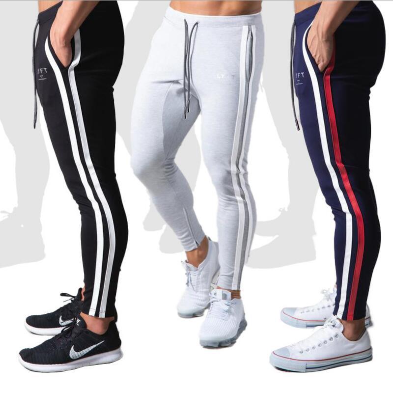 Men Pants Fitness Casual Elastic Pants men Bodybuilding Clothing Casual Navy Military Sweatpants Joggers Pants 20CK21