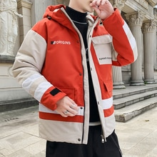 TFETTERS Brand Winter Jacket Men Hooded Jackets Coat Clothes Men New Patchwork Color Fashion Streetw