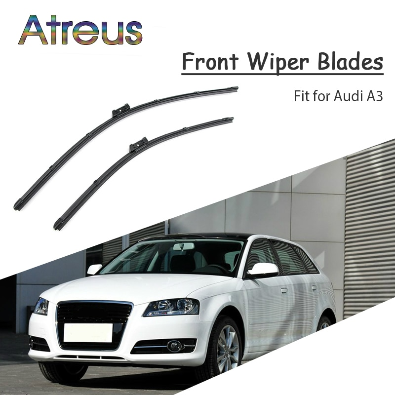 Atreus 2 adet yüksek kaliteli uzun ömürlü lastik ön cam silecek lastikleri Audi A3 8V 8P 8L 199-2017 Audi A3 aksesuarları