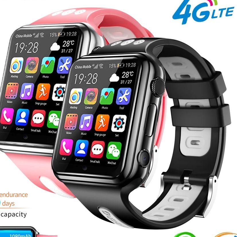 H1/W5 4G لتحديد المواقع واي فاي موقع الطالب/أطفال هاتف ساعة ذكية نظام أندرويد على مدار الساعة app تثبيت بلوتوث ساعة ذكية 4G بطاقة SIM