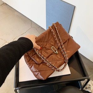 Textured Women's Small Bags 2021 Spring New Trendy Fashion Chain Messenger Bag Shoulder and Armpit Personality Small Square Bag