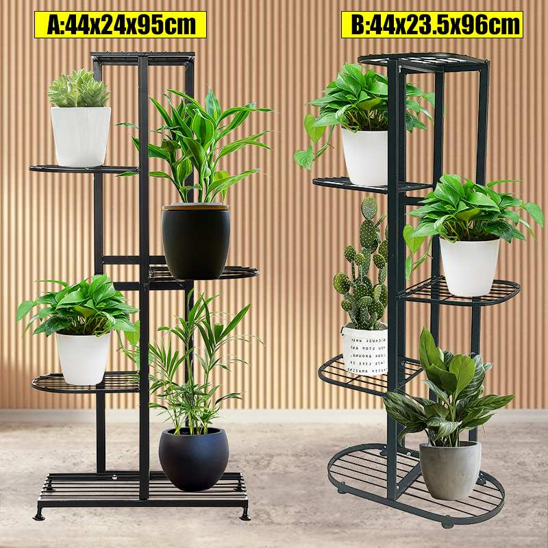 5 Tier Multi-tiers Plant Shelves Flower Plant Holder Stand Rack Metal Plant Stand Balcony Garden Bonsai Display Shelf Home