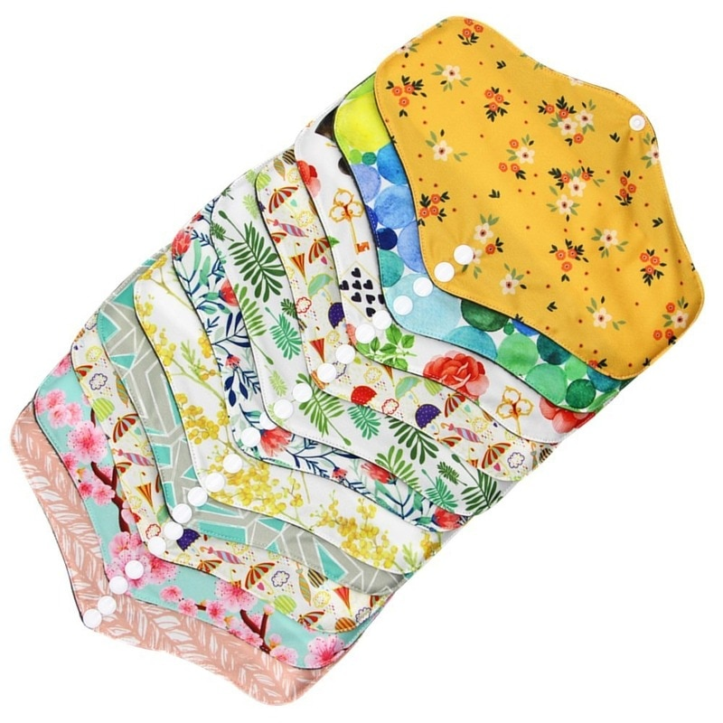 Reusable Cloth Menstrual Pads Bamboo-charcoal Absorbency Panty Liner Mama Sanitary serviette hygienique lavable