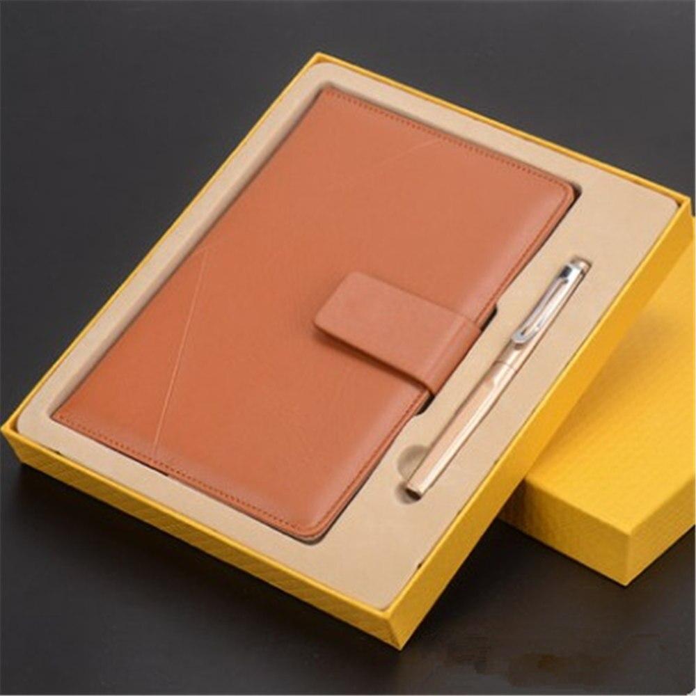 LOGO personalizado negocio Tapa dura cuaderno nota libro conjunto con un bolígrafo firma exquisito regalo de graduación regalo de negocios