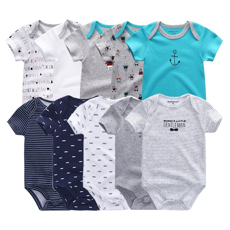 2021 5PCS/Lot Newborn 100%Cotton Unicorn 0-12M Baby Boys Clothes Bodysuits Girls Clothing Baby Girls Clothes Roupas de bebe