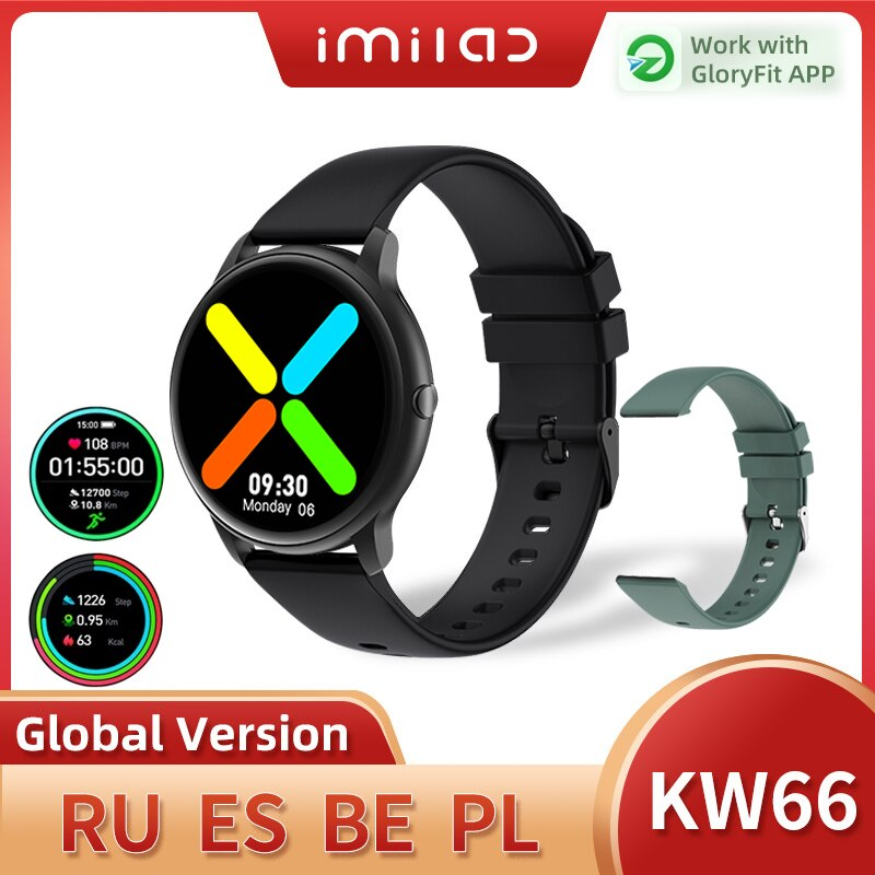 IMILAB KW66 Smart Watch Men SmartWatch Bluetooth Smart Watches Pedometer Heart Rate Fitness Tracker