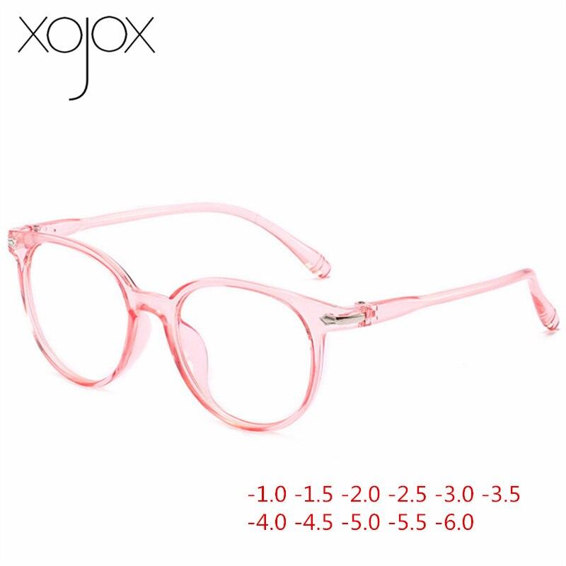 XojoX -1 -1.5 -2 -2.5 -3 -3.5 -4 -4.5 -5 -5.5 -6 Finished Myopia Glasses Women Men Retro Full Frame