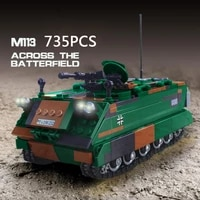 modern military germany mtw m113 armoured personnel carrier batisbricks building block ww2 vehicle brick toy collection for gift