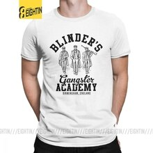Peaky Blinders T-Shirt Gangster Academy Birmingham angleterre homme T-Shirt drôle pur coton manches courtes T-Shirt gris vêtements