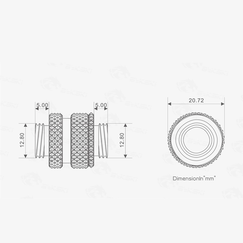 Bykski SLI Bridge 16~22mm Extender Double Graphics Card Connect Fittings Male To Male , G1/4