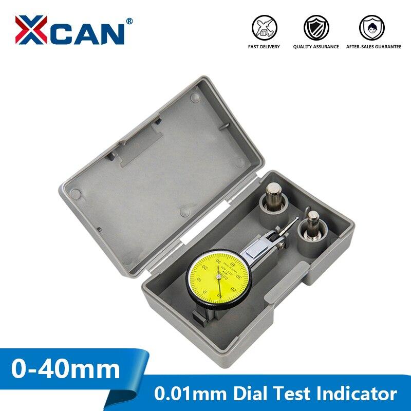 Medidor de Dial XCAN, indicador de prueba, métrica de precisión con montaje de rieles de cola de milano de 0 a 40mm, herramientas de medición de 0,01mm