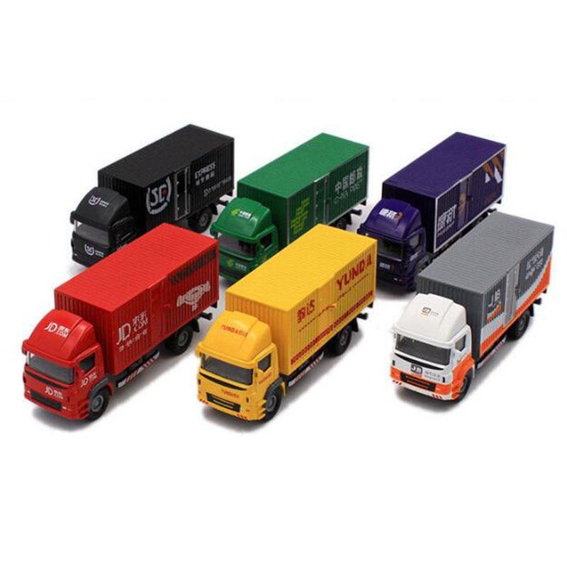 1 Coche de juguete a escala 60, vehículo comercial de aleación metálica Express FedEx Van Diecast camión de carga modelo regalo F colección para niños