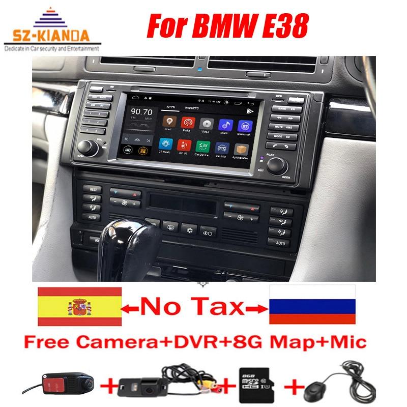 Автомобильный DVD-плеер на Android 10 для BMW E38, Wi-Fi, 3G, GPS, Bluetooth, радио, RDS, USB, управление рулевым колесом, Mirror link, радио, стерео, без DVD