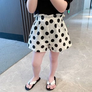 Baby Girl Korea Version Pressed Short-style Flower Bud Pants In Children Summer Style 2 Air 100-match Point Pure Cotton Shorts