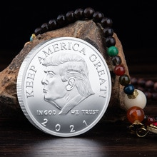 2021 President Donald Trump Silver Plated EAGLE Commemorative Coin challenge coin  trump