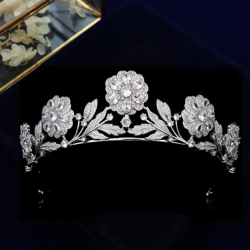 European Tiaras Bridal Headdress Fashion Wedding Crowns Princess Birthday Hair Accessories