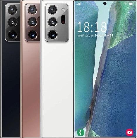 Фото1 - Смартфон глобальная версия Note20U +, 16 ГБ, 512 ГБ, 7,5 дюйма, 5000 мАч, Android 10,0, сотовый телефон Snapdragon 865, телефоны 4G5G, Note20