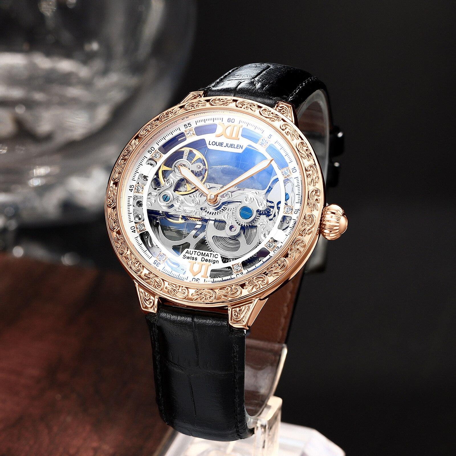 The New Men's Mechanical Sports Watch Hollow Mechanical Watch Men's Watch Fashion Night Light Watch