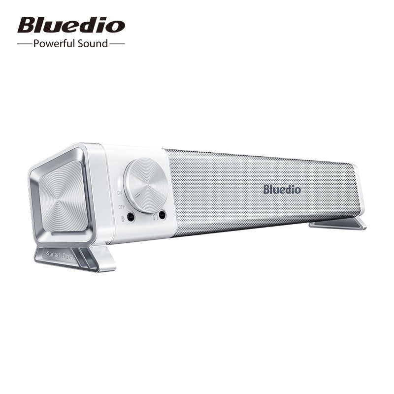 Bluedio LS soundbar السلكية المتكلم الكمبيوتر مكبر صوت USB عمود الطاقة مع ميكروفون للكمبيوتر ، لعبة ، المحمولة بلوتوث soundbox