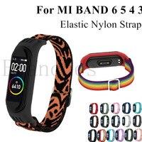 Нейлоновый ремешок для Xiaomi MI Band 6 5 4 3, эластичный сменный Браслет, спортивный браслет для mi Band 4 3, аксессуары для умных часов, петля