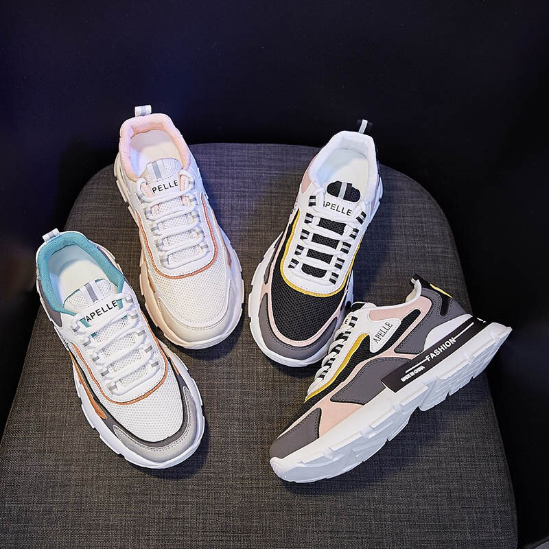 Old Daddy Shoes Women's Spring 2021 New Korean Version of The Wild Thick-soled Increased Sports Shoes Women's Shoes