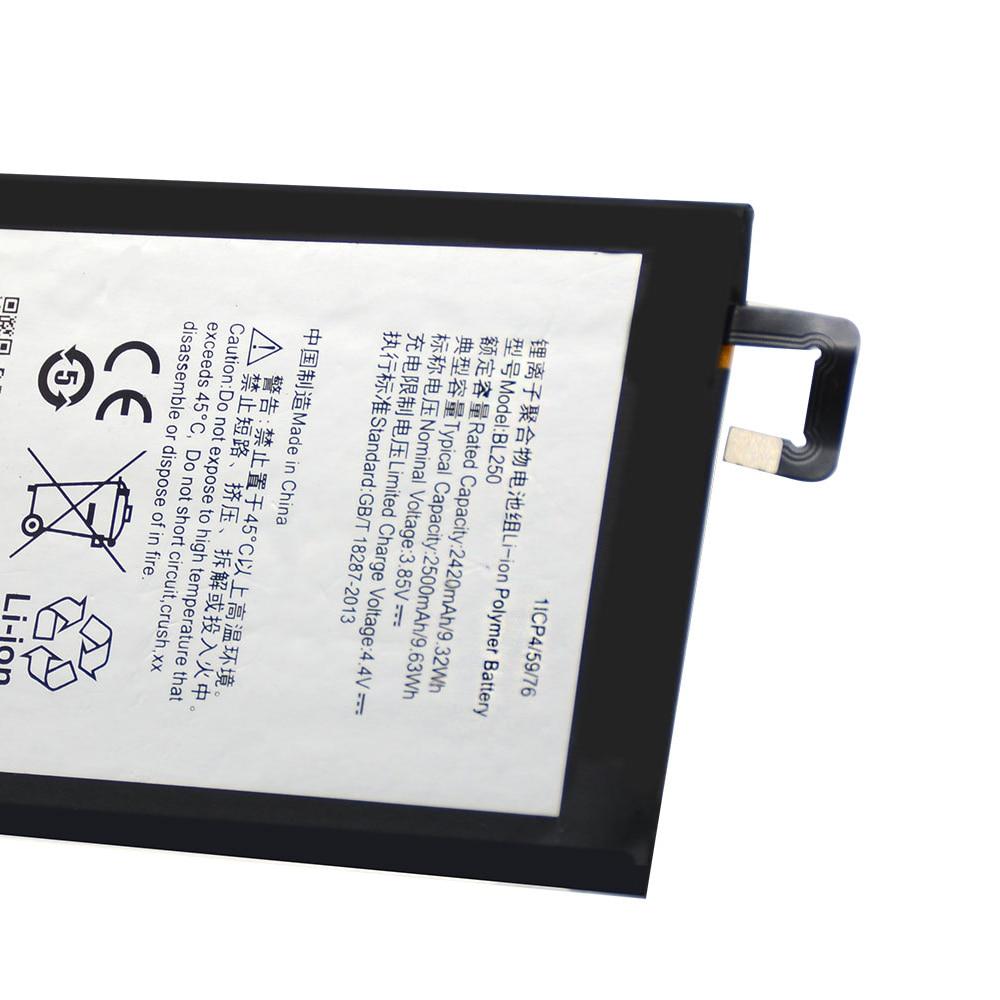 20pcs/lot Battery BL250 For Lenovo Vibe S1 S1c50 S1a40 Original Rechargeable Li-ion High Quality phone Batteria 2500mAh enlarge