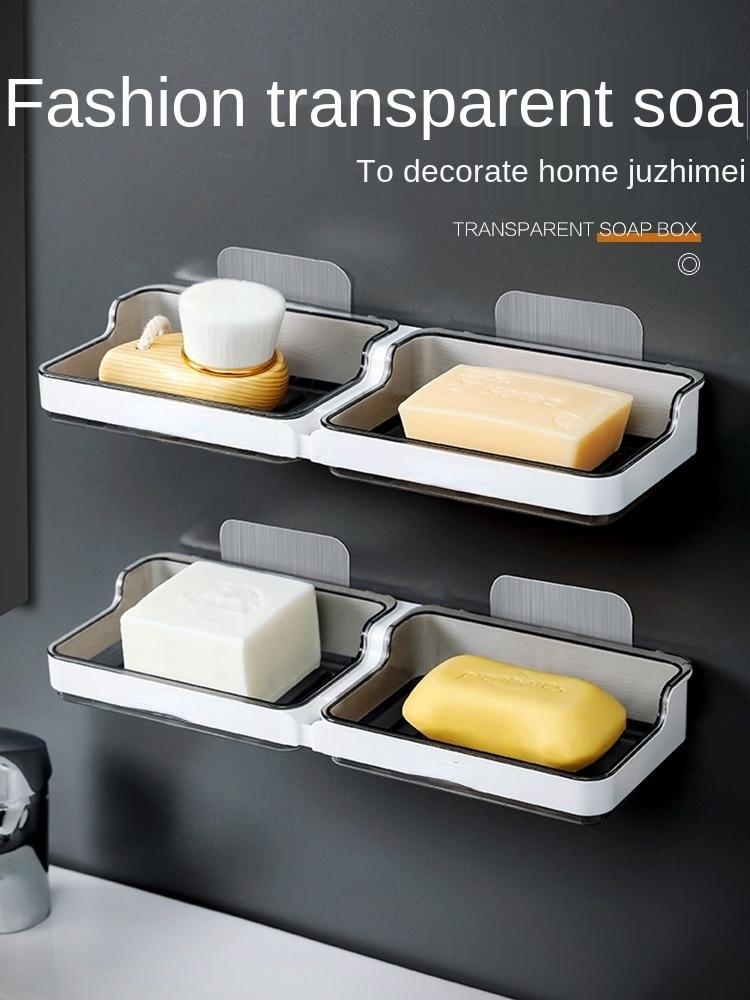 Домашняя Коробка для мыла, Бесплатная перфорированная коробка для хранения туалетного мыла, настенная дренаж для мыла, Подвесная подставка... les contes elfe d or набор туалетного парфюмированного мыла