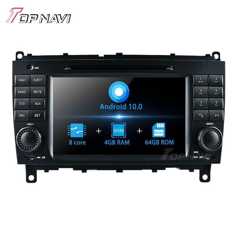 Topnavi android 10.0 leitor de dvd do computador do carro para o benz clk w209 (2006 2007 2008 2009 2010 2011 2012) cls w219 2004-2008) navegação gps