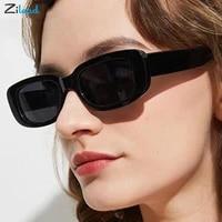 zilead uv400 rectangle sunglasses fashion retro luxury color square glasses street fashion style glasses transparent sun glasses
